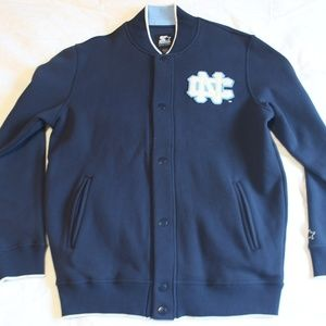 Starter UNC Mens Snap Up Front Letterman Jacket L